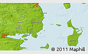 """Physical 3D Map of the area around 55°56'31""""N,10°16'30""""E"""