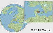 "Savanna Style Location Map of the area around 55°56'31""N,10°16'30""E"