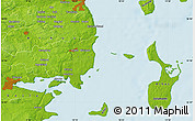 """Physical Map of the area around 55°56'31""""N,10°16'30""""E"""
