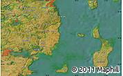 "Satellite Map of the area around 55°56'31""N,10°16'30""E"
