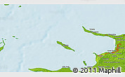 """Physical 3D Map of the area around 55°56'31""""N,11°7'30""""E"""
