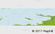 """Physical Panoramic Map of the area around 55°56'31""""N,11°7'30""""E"""