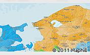 Political 3D Map of Hillerød
