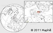Blank Location Map of Åsebro Huse