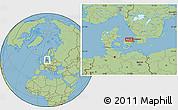 Savanna Style Location Map of Esrum