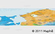 Political Panoramic Map of Åsebro Huse