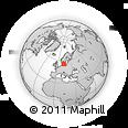 Outline Map of Billinge, rectangular outline