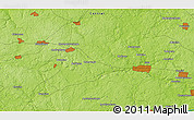 Physical 3D Map of Ivano-Konstantinovskoye