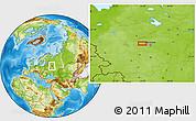 Physical Location Map of Ivano-Konstantinovskoye