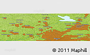 Physical Panoramic Map of Krasnogorsk