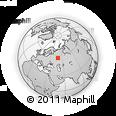 Outline Map of Lenino-Kokushkino, rectangular outline