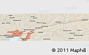 Shaded Relief Panoramic Map of Lenino-Kokushkino