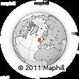Outline Map of Lochgilphead, rectangular outline