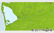 """Physical 3D Map of the area around 55°56'31""""N,8°34'29""""E"""
