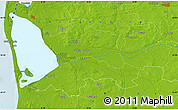 """Physical Map of the area around 55°56'31""""N,8°34'29""""E"""
