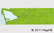 """Physical Panoramic Map of the area around 55°56'31""""N,8°34'29""""E"""