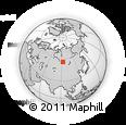 Outline Map of Krasnoyarsk, rectangular outline