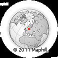 Outline Map of Hishult, rectangular outline