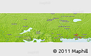 Physical Panoramic Map of Ällestad