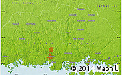 Physical Map of Fundersmåla