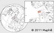 Blank Location Map of Alstrup