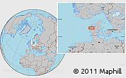 Gray Location Map of Alstrup