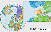 Political Location Map of Alstrup
