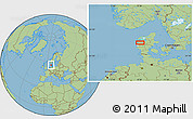 Savanna Style Location Map of Alstrup
