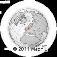 Outline Map of Kjellerup, rectangular outline