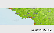 """Physical Panoramic Map of the area around 56°41'3""""N,12°49'29""""E"""