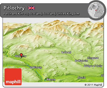 Pitlochry Scotland Map.Free Physical Panoramic Map Of Pitlochry