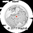 Outline Map of Krasovka, rectangular outline