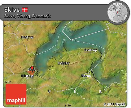 Free Satellite Map of Skive