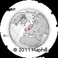 Outline Map of Varberg, rectangular outline