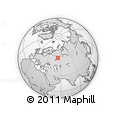 Outline Map of Severnaya Ulitsa, rectangular outline