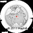 Outline Map of Western Siberia, rectangular outline