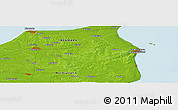 """Physical Panoramic Map of the area around 57°25'7""""N,10°16'30""""E"""