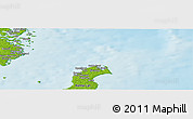 "Physical Panoramic Map of the area around 57° 25' 7"" N, 17° 4' 30"" E"