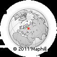 Outline Map of Uglich, rectangular outline