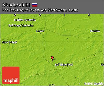 Физическая карта Славковичей
