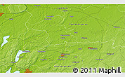 """Physical 3D Map of the area around 58°8'44""""N,12°49'29""""E"""