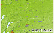 """Physical Map of the area around 58°8'44""""N,12°49'29""""E"""