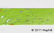 """Physical Panoramic Map of the area around 58°8'44""""N,12°49'29""""E"""
