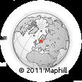 Outline Map of Mjölby, rectangular outline