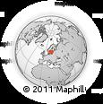 Outline Map of Solberga, rectangular outline