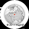Outline Map of Perm, rectangular outline