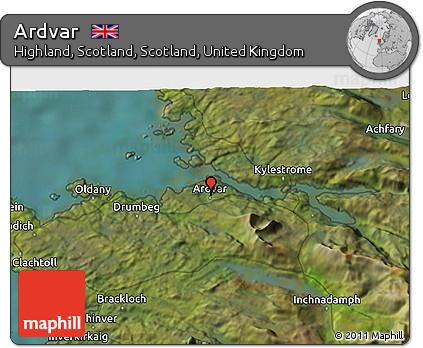 Satellite 3D Map of Ardvar