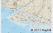 Shaded Relief Map of Flekkefjord