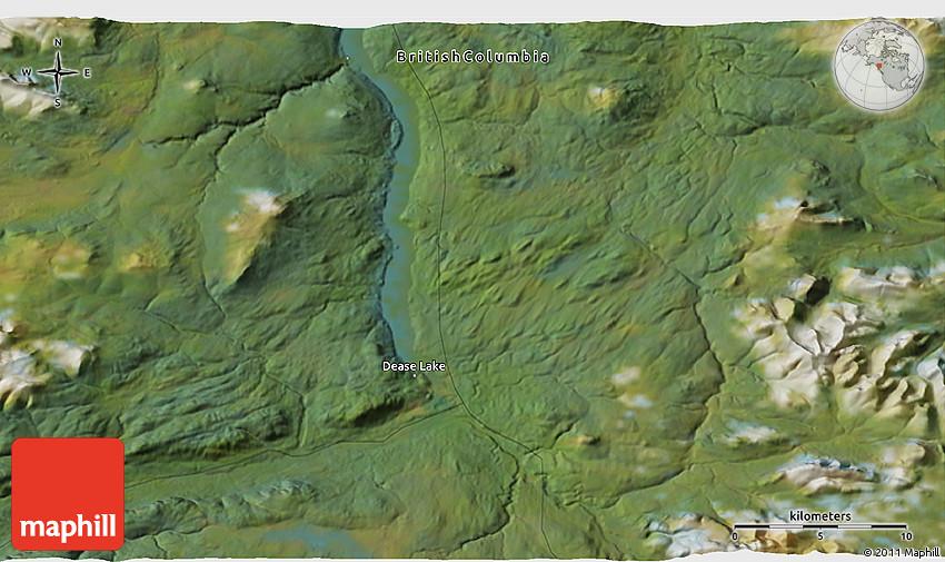 dease lake bc map Satellite 3d Map Of Dease Lake dease lake bc map
