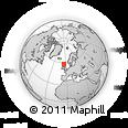 Outline Map of Cape Wrath, rectangular outline